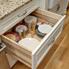 Traditional Kitchen Drawer Organizers by Steven Cabinets