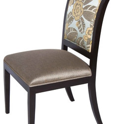 Artistic Frame Ile de France Dining Chairs w/Mahogany Frame - Dimensions:L 21''  × W 28''  × H 39''