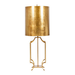 Worlds Away - Worlds Away Windham Gold Leaf Iron Lamp - Worlds Away Windham Gold Leaf Iron Lamp