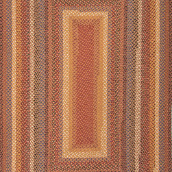 """Cotton Braided Rugs CBR01 Rug - 2'3""""x3'9""""Oval - These braided cotton rugs are both durable and rich in color and style."""