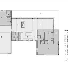Modern Floor Plan by Jeff Jordan Architects LLC