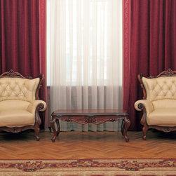 LIVING ROOM Custom Curtains, Drapes, Side Panels - Design your own custom curtains, drapes or side panels for your living room with your choice of over 2000 distinctive fabrics, modern styles, and multiple options.