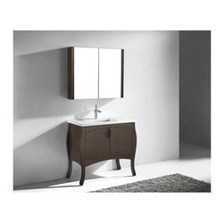"Madeli - Madeli Sorrento 39"" Bathroom Vanity for Quartzstone Top - Walnut - Madeli brings together a team with 25 years of combined experience, the newest production technologies, and reliable availability of it's products. Featuring sleek sophisticated lines Madeli vanities are also created with contemporary finishes and materials. Some vanities also feature Blum soft-close hardware. Madeli also includes a Limited 1 Year Warranty on Glass Vessels, Basin, and Counter Tops. Enjoy the artistic beauty of The Sorrento Collection's sculpted, curved lines whenever you enter your bath. The beauty and warmth of the polyurethane-protected solid wood Walnut veneer or Glossy White finish accentuate simple lines, and set off the beauty of the integrated counter and basin. A double cabinet door opens to a large interior compartment and a concealed spacious drawer, all with soft-closing, European hardware that will delight you. It's a one-of-kind piece of furniture that will add class and elegance to any bath setting.Features Base vanity with Blum Soft Close hinge drawer inside Walnut finish Polished Chrome handle finish 1-1/4""H Quartzstone Countertop drilled for single-hole or 8"" widespread faucetsFaucet and drain are not included Matching mirror and medicine cabinet available Limited 1 Year Warranty on Glass Vessels, Basin, and Counter Tops How to handle your counterSpec Sheet Installation Instructions"