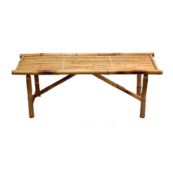 Bamboo54 - Bamboo Bench - Set of 3 - * Set of 3. Folding Bamboo bench. Made of Bamboo. Weight capacity: 400 lbs.. 47 in. L x 15 in. W x 18 in. H