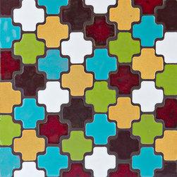 Moroccan Cross - Moroccan Cross - 1072 Baroque Gold, 1056 Aqua Fresca, 614 Matador Red, 1062 Light Kiwi, 132 Jewel Brown, 11 Deco White