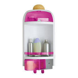 Gedy - Pink Wall Mounted Corner Shower Caddy - A sensible piece for a decorative or contemporary bathroom, this shower basket is the perfect option. Designed and built in italy with extremely high quality thermoplastic resins and available in pink, this shower caddy is part of the Gedy Complementi Doccia collection. Shower caddy for a trendy bathroom. Decorative shower basket. Extremely high quality thermoplastic resins, coated with pink. Made by Gedy in Italy.