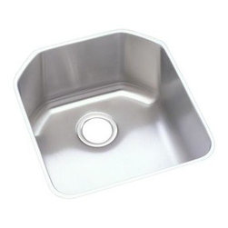 Elkay - Harmony Lustertone Undermount Sink - ELUH1618 - Choose Sink Package: Sink OnlyManufacturer SKU: ELUH1618. Material: Stainless SteelFaucet Holes: 0Thickness: 18 GaugeCode Compliance: IAPMOSound Deadening: Sound Guard®Number of Bowls: 1Minimum Cabinet Size: 24 in.Sink Dimensions: 18 1/2 in. L x 20 1/2 in. WPrimary Bowl Depth: 9 1/2 in.Bowl Dim.: 16 in. x 18 in. x 9 1/2 in.Drain Size: 3 1/2 in.