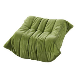 """LexMod - Waverunner Ottoman in Green - Waverunner Ottoman in Green - Provide natural comfort at every gathering with a balanced set of functional symmetry. Observe as Waverunner interplays ergonomics with dense foam cushioning to precisely reflect full relaxation. Wander through the pathways of elucidation with a multi-layered environment of intricate folds and holistic positioning. Set Includes: One - Waverunner Modular Ottoman Perfect for living room or lounge, Covered in easy-care microfiber, Ground level Density foam, Sold as a set or individually Overall Product Dimensions: 26""""L x 31""""W x 13""""H - Mid Century Modern Furniture."""