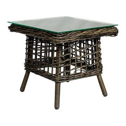Source Outdoor Furniture - Source Outdoor Furniture Kensington 20 Square End Table - Since 2009 Source Outdoor has been committed to offering customers the finest in contemporary seating dining and lounging furniture for residential commercial and hospitality spaces. Source Outdoor Furniture company has rapidly expanded as they worked with retailers interior designers individual buyers and owners or operators of restaurants and hotels to design and build pieces tailored to fit any outdoor patio space. Source Outdoor are committed to anticipating voids trends and opportunities in the marketplace as they believe creativity and quality are the cornerstones of our success. In fact over half Source Outdoor Furniture products are currently manufactured in Miami by in-house skilled seamstresses and craftsmen. Not only are these products proudly made in America but Source Outdoor also have an advantage with increased year-round inventory and faster turnaround.