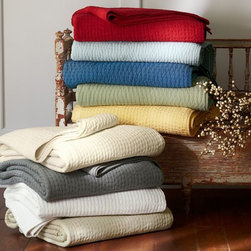 Pick-Stitch Quilt - I have this quilt in several rooms in my house. It's a favorite of mine, and it's budget friendly.