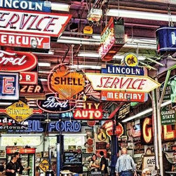 American Icons Puzzle - 1000 Piece Jigsaw PuzzleThey say the journey is the destination, and with 1,000 neon-filled pieces, this puzzle proves it. Take a trip down Route 66. It��_s tough to navigate and easy to get lost, but it��_s a whole lot of fun along the way.