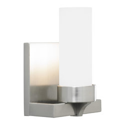 LBL Lighting - Jada 1 Light Bath Bar - The Jada Bath Bar has a glass cylinder shade and a minimal modern base. Available in Satin Nickel, Bronze, or Polished Chrome finish. Available in 1, 5, or 7 light varieties. 40/60 watt 120 volt JC type G9 base halogen lamp is included. One light: 4.4 inch width x 6.1 inch height x 4 inch depth. Five light: 24 inch width x 6.1 inch height x 4 inch depth. Seven light: 33.6 inch width x 6.1 inch height x 4 inch depth. All varieties are ADA compliant.