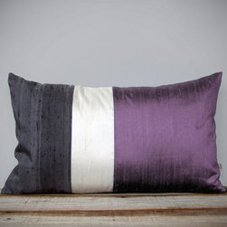 Silk Color Block Pillow, Radiant Orchid by Jillian Rene Decor - Of course the throw pillow is the easiest way to update your decor. Just choose one with the Color of the Year for instant freshness.