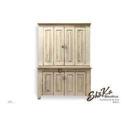 White Fairfield 55 inch Media Center - Wood Designs Inc dba Shaka Studios.  All Rights Reserved.