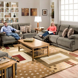 Catnapper - Riley Charcoal 3 Piece Living Room Set - 61221-61229-61220-2 - Set includes Power Reclining Sofa, Power Reclining Loveseat and Power Chaise Rocker Recliner