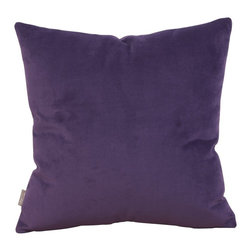 Howard Elliott - Bella  16 x 16 Pillow - Change up color themes or add pop to a simple sofa or bedding display by piling up the pillows in a multitude of colors, textures and patterns. This Bella pillow features a lush velvet in a Bold Eggplant Purple.