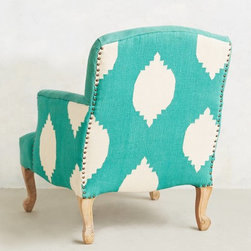 Dhurrie Chair, Turquoise - This chair practically speaks for itself. The color and pattern are gorgeous!
