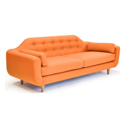 Lounge22 - Ellington Modern Sofa - Designed for a more discerning pallet, this full sized sofa offers a more refined silhouette. With its rounded corners, tufted back, and deep seat, the Ellington offers mid century influence with modern day comfort. Made in the United States.