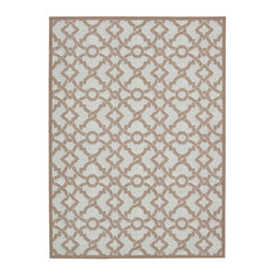 """Waverly - Waverly Wav16 Treasures WTR01 2'6"""" x 4' Earl Grey Area Rug 23494 - This boldly graphic Artistic Twist area rug by Waverly for Nourison brings a spontaneous burst of sophisticated energy to any area it inhabits. A fabulous twisted yarn texture and unforgettable two-tone color palette of crisp white and deep marine blue only add to the appeal."""