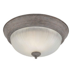 Forte Lighting - Forte Lighting 20001-02 Energy Efficient Fluorescent 13.25Wx6.25H Indoor Flushmo - Traditional / Classic Energy Efficient Fluorescent Indoor Flushmount Ceiling Fixture