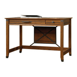 Sauder - Sauder Carson Forge Writing Desk in Washington Cherry - Sauder - Writing Desks - 412924 - About The Carson Forge Collection: