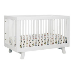 Hudson 3-in-1 Convertible Crib w/ Toddler Rail, White