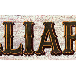 Red Horse Signs - Vintage Billiards Sign Nostalgic Game Room Signs - Vintage  Billiards  Sign  -  Nostalgic  Game  Room  Signs    Our  vintage  Billiards  sign  is  perfect  for  rec  room  or  Pool  Table  area.  Printed  directly  to  distressed  wood,  these  rustic  signs  have  all  the  traits  of  antique  vintage  signs.  Measuring  7x32,  this  sign  looks  like  an  original,  but  without  the  flaking  paint  and  slivers!  Change  the  sign  to  say,  Cowboy  Up,  Kitchen  or  even  Jones.  You  can  customize  any  of  our  vintage  signs  by  typing  your  new  wording  into  the  box  provided.  An  additional  $15  fee  applies  to  all  personalized  wording.  Please  allow  up  to  three  weeks  for  delivery.    Product  Specifications:        Vintage  Look    Finished  Size:  7x32    Printed  on  distressed  wood