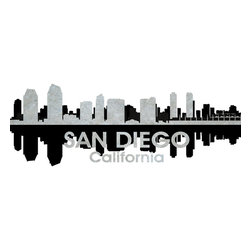 San Diego Black And White Concrete Jungle Print - This mixed-media artwork makes it easy to see things in black and white. Use it to show off your city pride, with digital and photographic layers that capture all the charm of sunny San Diego, a city known for its zoo, Balboa Park, beautiful beaches and historic Old Town.