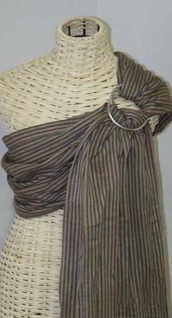 Maya Wrap - Lightly Padded Sling in Brown Stripe - Lightly Padded Sling in Brown Stripe