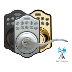LockState Connect L500i - The LockState Connect L500i is the first Wi-Fi residential lever lock that allows you to lock and unlock your door from anywhere in the world.