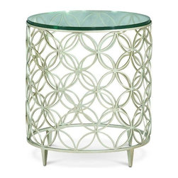 "Schnadig - Caracole Bubbles - One of our best selling side tables. This retro-esque accent piece is perfect for those who love to mix styles, finishes, and materials! Cluster three ""Bubbles"" in front of a sofa or sectional as a cocktail table, use one in between two chairs, a night stand to mix things up, or, at the very least, as an end table."
