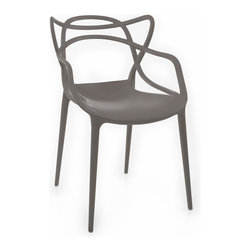 American Atelier - Crawford Gray Chair - Enjoy this modern designed chair from American Atelier Living by Jay. This contemporary chair is made of polypropylene and has a contoured seat with armrests.