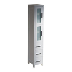 shop new tall bookcase glass doors drawers bathroom
