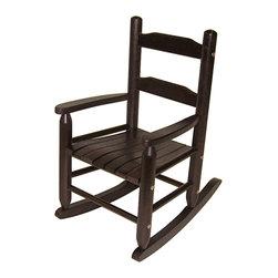 Lipper - Child's Rocking Chair Espresso - Color: Espresso. Material: Wood/MDF. 24.5 in. L x 14.5 in. W x 5.5 in. H (1.48 lbs)