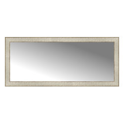 """Posters 2 Prints, LLC - 44"""" x 19"""" Libretto Antique Silver Custom Framed Mirror - 44"""" x 19"""" Custom Framed Mirror made by Posters 2 Prints. Standard glass with unrivaled selection of crafted mirror frames.  Protected with category II safety backing to keep glass fragments together should the mirror be accidentally broken.  Safe arrival guaranteed.  Made in the United States of America"""