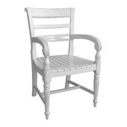 EuroLux Home - New Arm Chair Gray Painted Hardwood Arm - Product Details