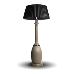Bella - Bella heater in Sandstone with Black Onyx Pleated Shade. By Kindle Living.