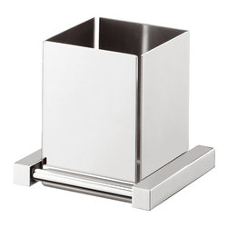 "Modo Bath - Iceberg 1033 Wall Mounted Toothbrush Holder - Iceberg 1033 Toothbrush Holder, 4.5"" W x 3.9"" D x 4.1"" H, in Polished Chrome"