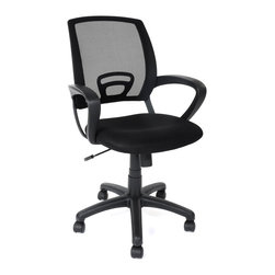 Pink 360 Swivel Armchair Adjustable Modern Wheels Office Chair, Black - Product Description: