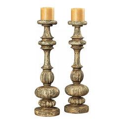 Sterling Industries - Flemish Carved Candel Holders - Flemish Carved Candel Holders