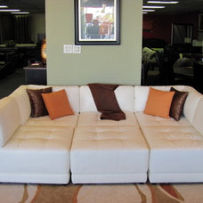 Bedroom Products 6PC VICE VERSA SECTIONAL SOFA MADE OF WHITE LEATHER
