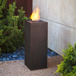 Real Flame - Real Flame Baltic Fire Column,Kodiak Brown - The Baltic Fire Column by Real Flame is cast from high-performance,lightweight fiber-concrete that is tinted for increased outdoor durability. This column comes complete with lava rock filler and a matching lid for when the burner is not in use.