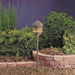 LANDSCAPE - LANDSCAPE 15205AZT Six Groove Three Tier Path Light - Versatile, louvered fixture with multiple mounting options for deck or path lighting, on optional post, stem or bollard. Cast Aluminum. Molded ribbed diffuser of clear UV stabilized high impact resistant polycarbonate.