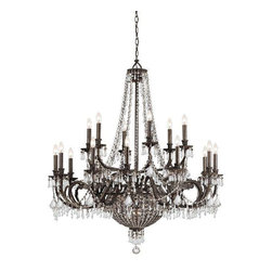 Crystorama Lighting - Crystorama Lighting 5169-EB-CL-MWP Vanderbilt Transitional Chandelier - Crystorama Lighting 5169-EB-CL-MWP Vanderbilt Transitional Chandelier In English Bronze With Clear Hand Cut Crystal