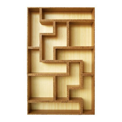 Tetrad Bamboo Shelving - Tetris is still one of my favorite games after all these years, so this bookshelf would be a perfect fit for my living room.