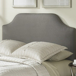 "FBG - Bordeaux Upholstered Headboard - This uncomplicated grey headboard makes keeping up with the latest trends effortless. The Bordeaux design is simple and uncluttered, making it the perfect choice to blend in to any style you display in your room while creating a beautiful silhouette for your bed. This sleek, minimalist headboard will remain a striking focal point through years of color, decor, and design changes in your room. Features: -100% Polyester covering 2'' of Dacron wrapped foam .-Works with standard headboard frames.-Made in the USA.-Solid wood frame construction.-Bordeaux collection.-Color: Grey.-Upholstered: Yes.-Hardware Material: Metal.-Non Toxic: Yes.-Scratch Resistant: No.-Adjustable Height: Yes.-Tufted: No.-Wingback: No.-Lighting Included: No.-Wall Mounted: No.-Reversible: No.-Hardware Finish: Dolphin.-Finished Back: Yes.-Distressed: No.-Hidden Storage: No.-Freestanding: No.-Frame Required: Yes.-Frame Included: No.-Drill Holes for Frame: Yes.-Swatch Available: No.-Eco-Friendly: No.-Product Care: Frequently vacuum or brush to remove dust, spot clean using a mild water-free solvent or dry cleaning agent..-Recycled Content: No.Specifications: -EPP Compliant: No.-CPSIA or CPSC Compliant: Yes.-ASTM Certified: No.-ISTA 3A Certified: Yes.-General Conformity Certificate: Yes.-Green Guard Certified: No.Dimensions: -Overall Height - Top to Bottom (Size: Twin): 62"".-Overall Height - Top to Bottom (Size: Full/Queen): 62"".-Overall Height - Top to Bottom (Size: King): 62"".-Overall Depth - Front to Back (Size: Twin): 4.25"".-Overall Depth - Front to Back (Size: Full/Queen): 4.25"".-Overall Depth - Front to Back (Size: King): 4.25"".-Overall Product Weight (Size: Twin): 36 lbs.-Overall Product Weight (Size: King): 68 lbs.-Overall Product Weight (Size: Full/Queen): 51 lbs.Assembly: -Assembly Required: Yes.-Tools Needed: Phillips Screw Driver.-Additional Parts Required: No.Warranty: -10 Year warranty against manufacturer's defects."