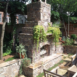 Natural Building Stone Outdoor Fireplaces -