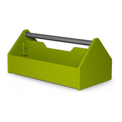 Modern Design Toolbox - This toolbox comes in so many fun colors that I can see tons of uses beyond tools. Use it for organization on a desk or put silverware in it to take outside for an outdoor buffet. You could also put small potted plants in it for a really fun container gardening solution.