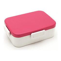 Skater Co. - Skater Lunch Box No. 1 M, Pink - In Japan, food presentation is an artful endeavor - bento boxes keep your meal beautifully contained in a portable, appetizing form. Skater Co. Ltd's version, the Skater Lunch Box No. 1 M, keeps things fun and functional. Each box features an adjustable divider, an airtight lock-on lid, and are available in five vibrant colors. BPA-free, microwave and dishwasher-safe for worry-free food storage.