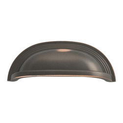 """Hickory Hardware - Deco Oil-Rubbed Bronze Cabinet Cup Pull, 3 25/32"""" - Bridges contemporary and traditional design. Offering a deep rooted sense of history in some, with an updated feel and cleaner lines."""